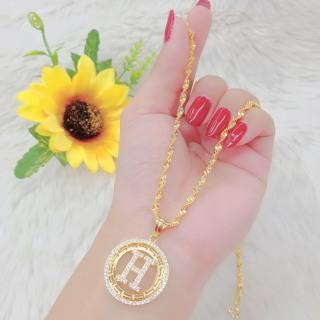 Dây chuyền nữ mạ vàng 18K JK Silver cho độ sáng lấp lánh cao ,cam kết không đen , không bay màu, không gây dị ứng, thích hợp đi tiệc cực sang chảnh, day chuyen bac dep ,trang suc vang non U.daychuyen64 thumbnail