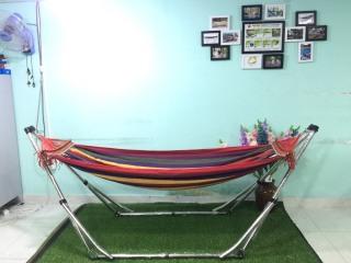 Bộ võng xếp BAN MAI Khung Inox VIP kết hợp võng vải canvas, gỗ 40 thumbnail