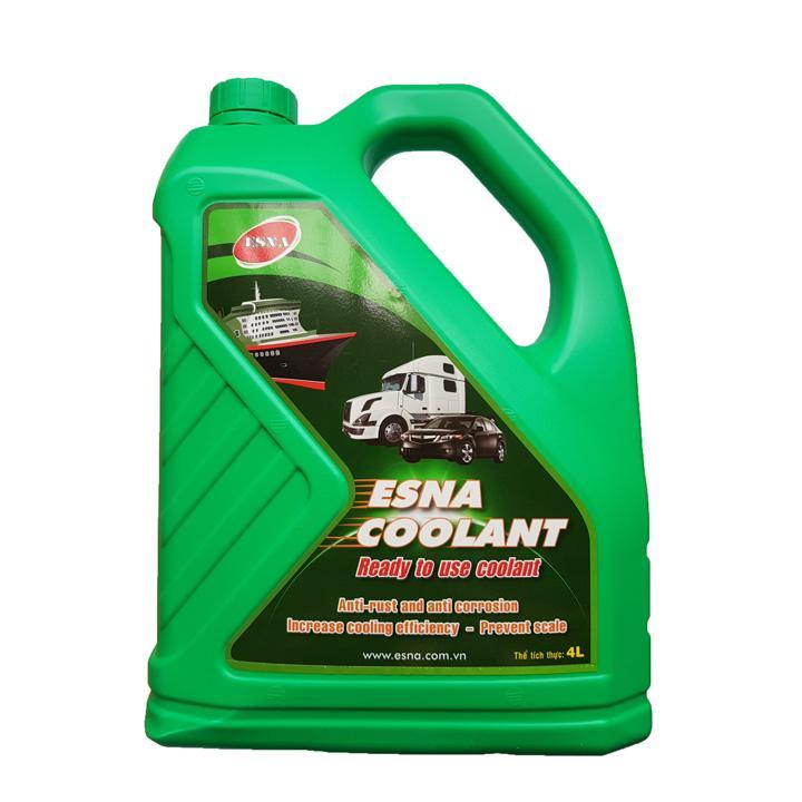 Nước làm mát động cơ ô tô (màu xanh) Esna Coolant can 4L