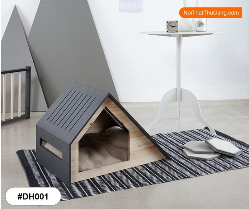 Nhà Gỗ Gác Mái Phong Cách Hiện Đại Dành Cho Chó Mèo DH001- Size S