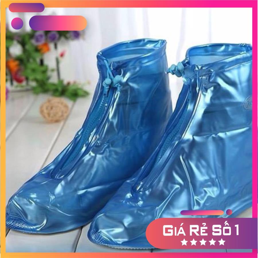 Bọc giày đi mưa cao cấp có đế loại xịn, Bọc giày đi mưa có đế, chất liệu siêu bền, chống nước tốt