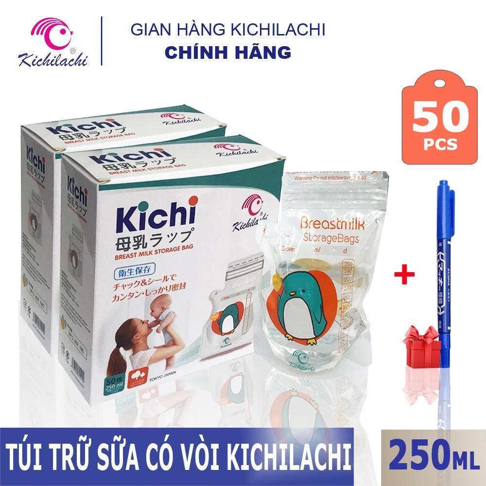 Offer Ưu Đãi Hộp 50 Túi Trữ Sữa Kichilachi 250ml Nhật Bản, Tặng Kèm Bút Ghi Thông Tin