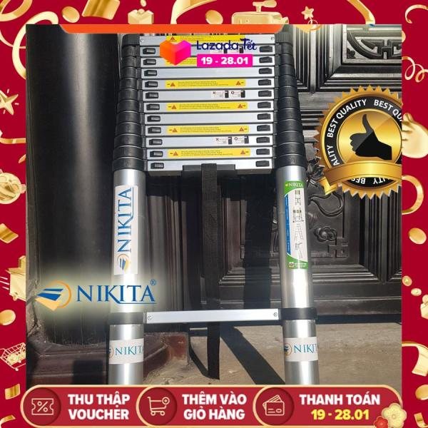 Thang nhôm rút đơn cao cấp 5m4 NIKITA NKT-R54 - Hàng Chính Hãng