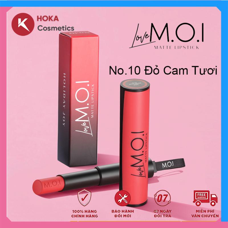 Son thỏi love MOI son thỏi Hồ Ngọc Hà - mỹ phẩm M.O.I hàng chính hãng Hoka Shop, nhẹ môi, dễ chịu khi dùng thường xuyên