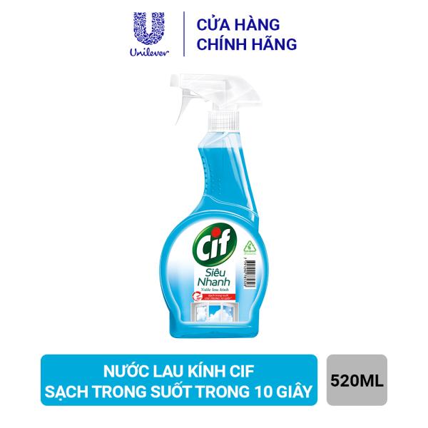 Nước Lau Kính Cif Siêu Nhanh 520ML Sạch Trong Suốt Trong 10 Giây