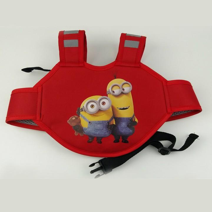 Dây đai xe máy an toàn hoạt hình ngộ nghĩnh cho bé (Đỏ)
