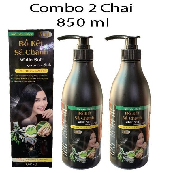 Combo 2 Chai Dầu Gội Bồ Kết Xã Chanh  850 ml