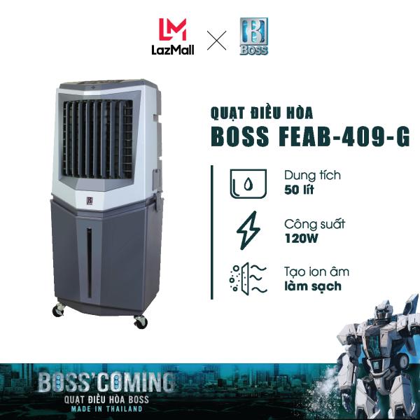Bảng giá Quạt điều hòa Boss FEAB-409-G - 50 lít - 120W   Bảo hành 12 tháng chính hãng   Made in Thailand