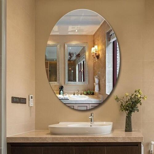 Gương phòng tắm cao cấp 45x60cm hình thoi