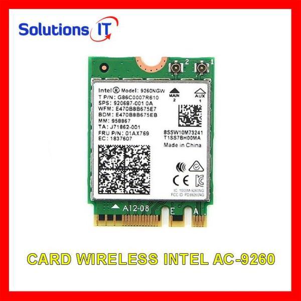 Giá Card WIFI Intel chuẩn AC7260  AC8260 AC9260 AX200 khe M2 có Bluetooth - Card WIFI Laptop Intel 2 băng tần