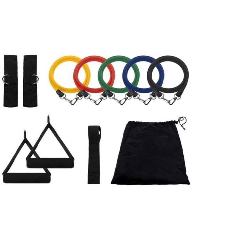 Dụng cụ hỗ trợ tập gym, Dụng cụ tập thể hình giá rẻ, Tạ chân 5kg - Bộ 5 Dây Đàn Hồi Tập Thể Hình Cao Cấp Với 5  Mức Độ Khác Nhau Phù Hợp Với Nhiều Đối Tượng  - Mã BH 311