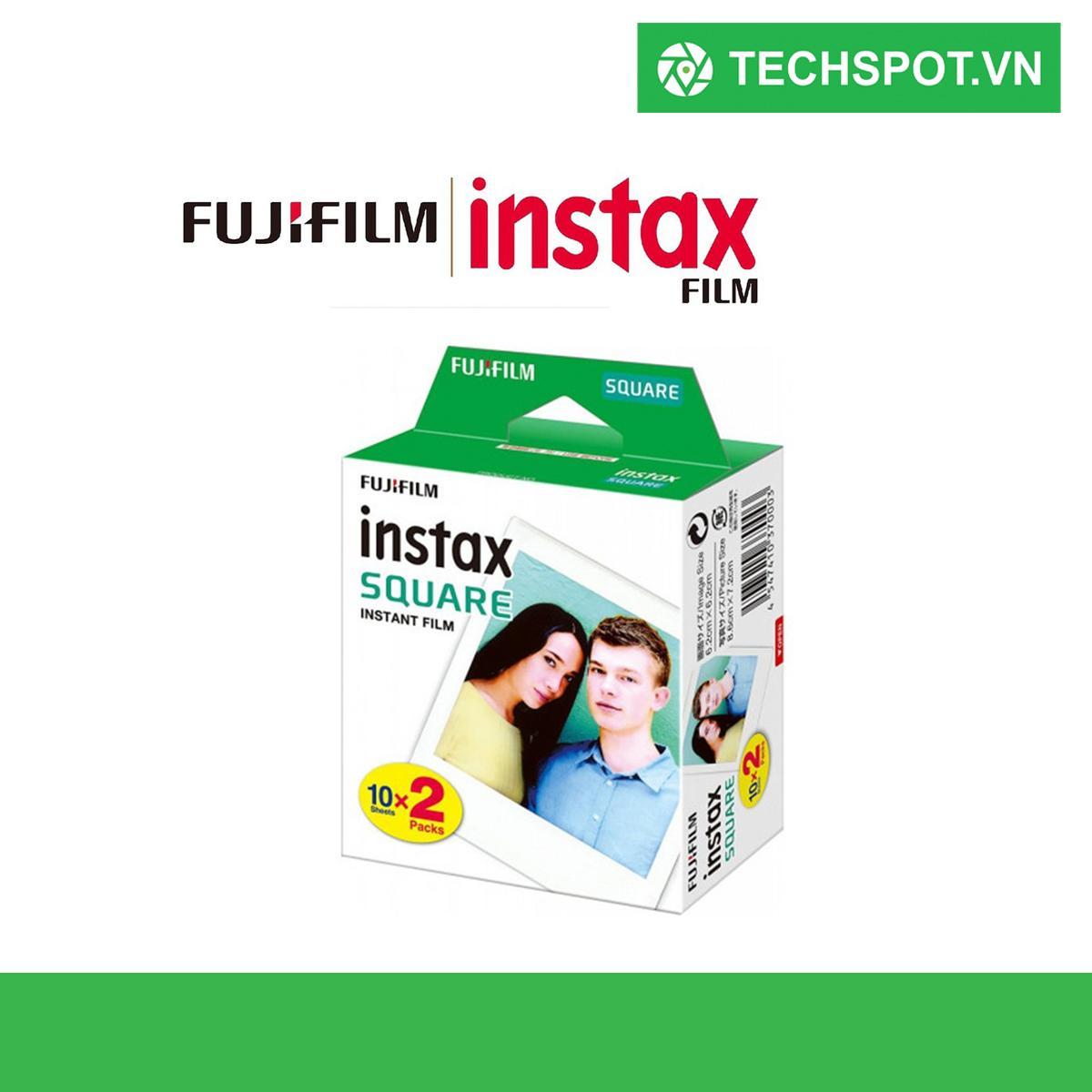 Giá 20 Tấm Fujifilm Instax SQUARE Bộ Cặp Phim Viền Trắng Giấy In Ảnh cho Instax SQ10 SQ6 Ngay Chia Sẻ SP-3 Máy In