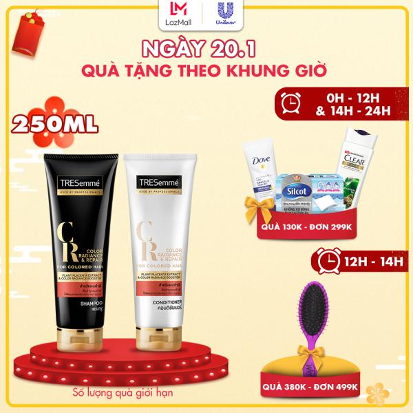 Combo dành cho tóc nhuộm Dầu gội Tresemme 250ml và Kem xả Tresemme 250ml giá rẻ