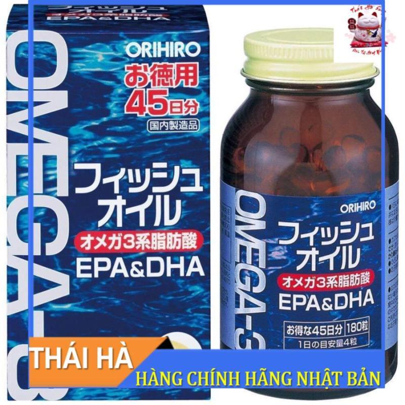 Dầu Cá Omega 3 Orihiro 180 Viên Nhật Bản Giúp Sáng Mắt Bổ Não