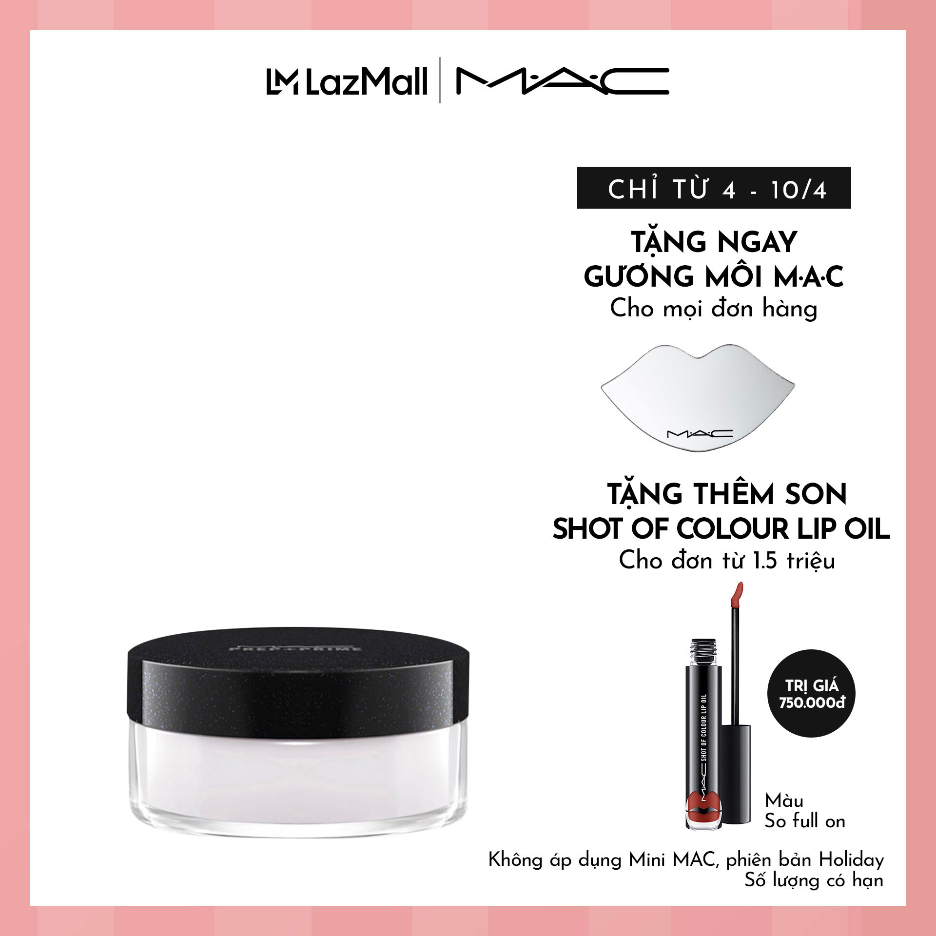 Hình ảnh Phấn phủ MAC Prep + Prime Transparent Finishing Powder 9g