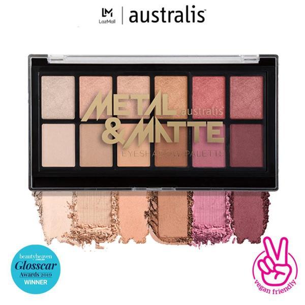 Bảng phấn mắt dạng lì Australis Metal & Matte Eyeshadow Palette 12 màu 9g-Hàng Úc Chính Hãng giá rẻ