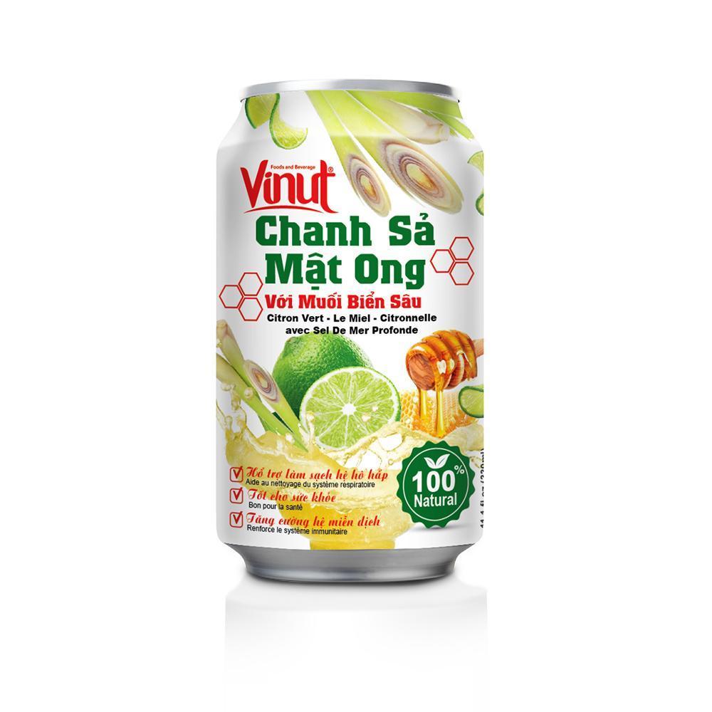 Thùng 24 Lon Vinut Chanh Sả Mật Ong Với Muối Biển Sâu Mỗi Lon 330ml Giá Tốt Không Nên Bỏ Lỡ