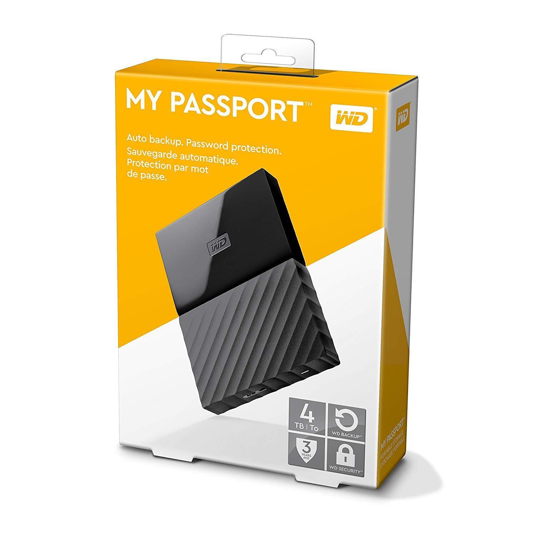 Ổ cứng di động My Passport 4TB (bảo hành 36 tháng, new 100%, tặng kèm bao chống sốc ổ cứng)
