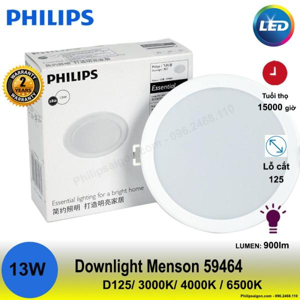 Đèn Downlight Led Philips Meson 59464 13W 3000/4000/6500K (Φ125)