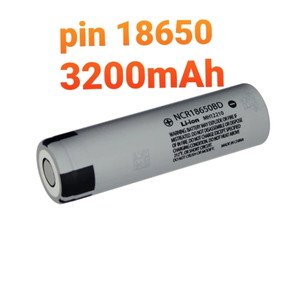Bảng giá pin 18650 panasonic đầu bằng. đủ dung lượng 3200mAh. Dùng cho sạc dự phòng, pin laptop. đèn pin siêu sáng Phong Vũ