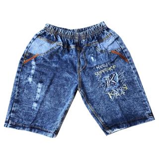 Quần jean bé trai kiểu rách cao cấp họa tiết ngẫu nhiên size từ 25-36kg chuẩn form mềm mại phong cách thumbnail