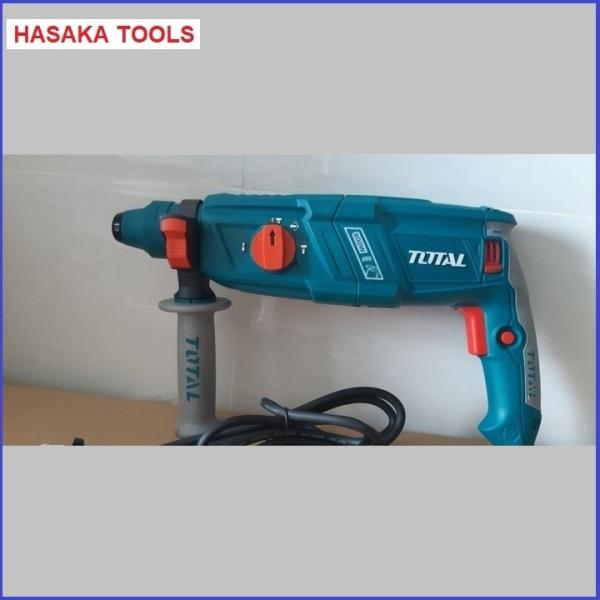 Máy khoan bê tông Total TH-308266,có 3 chức năng,chuyên khoan bê tông,khoan tường,sắt-hasaka tools