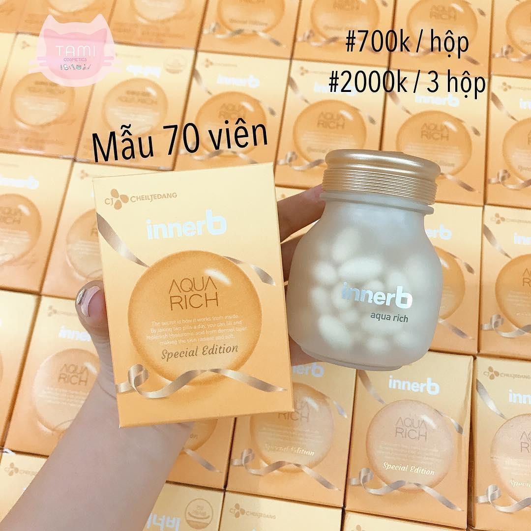 (70 viên) Viên Uống Cấp Nước Innerb Aqua Rich Bổ Sung Collagen 70 viên nhập khẩu