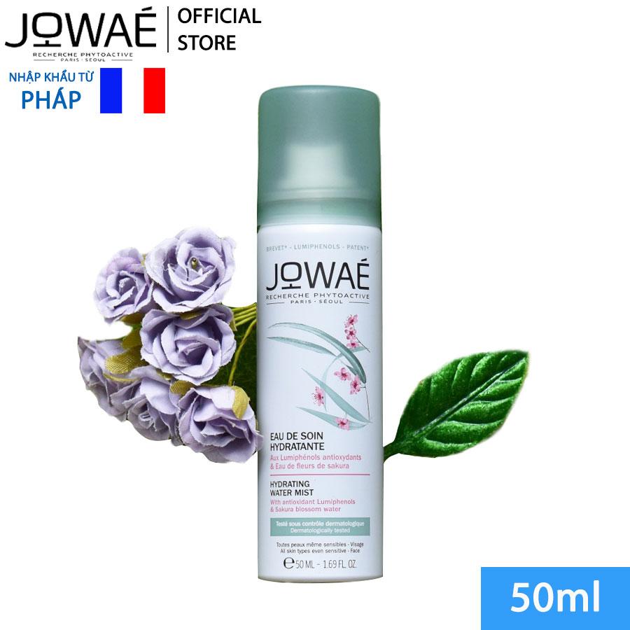 Xịt khoáng Dưỡng da Hoa Anh Đào JOWAE thay thế tonner tinh chất chống lão hóa Lumiphenol Mỹ phẩm thiên nhiên nhập khẩu từ Pháp HYDRATING WATER MIST 200ml