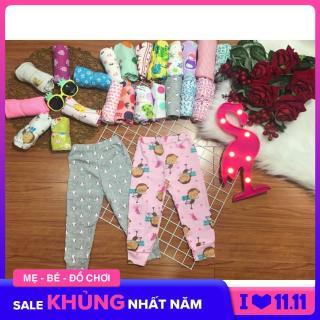 Quần dài bozip bé gái - set 5 cái - hàng xuất xịn màu sắc dễ thương từ 6 -19 KG - quần chục dài cho bé gái MD03 thumbnail