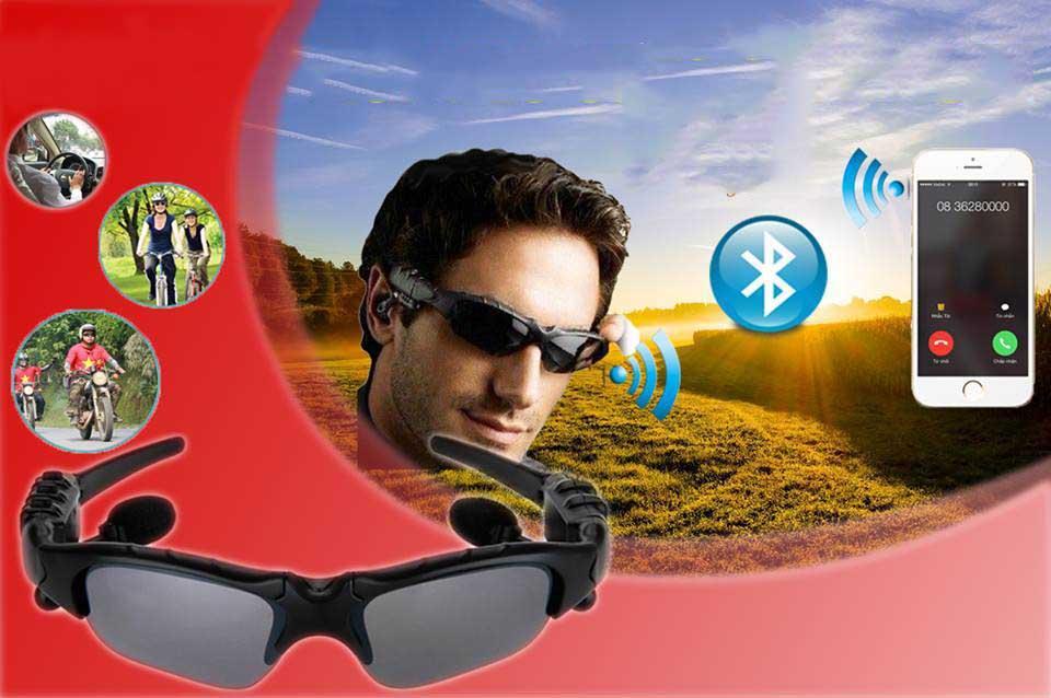 Cách sử dụng kính bluetooth, Kính mát kiêm tai nghe bluetooth, Mat kieng bluetooth - Mắt Kính Bluetooth Bảo Vệ Đôi Mắt Với Mắt Kính Chống Tia UV - Mã BH 1
