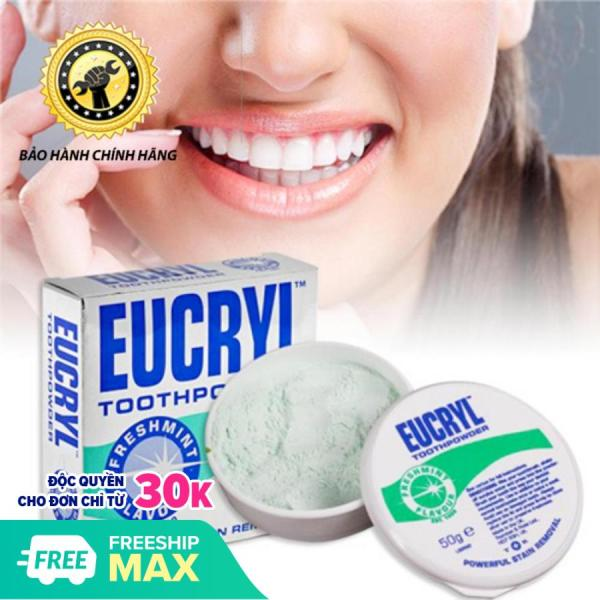 Bột Tẩy Trắng Răng Eucryl Chính Hãng Anh Quốc 50gram nhập khẩu