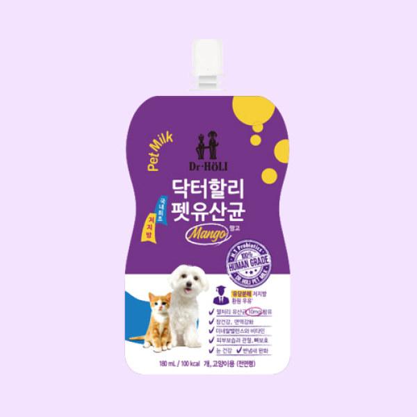 Dr.HOLI Pet Milk Probiotics - Sữa tươi uống dành cho chó mèo bổ sung lợi khuẩn 180ml
