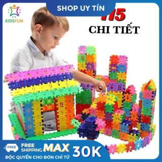 Đồ chơi trẻ em túi 115 tấm xếp hình nhựa nguyên sinh an toàn nhiều màu sắc giúp trẻ từ 3 tuổi trở lên phát triển trí tưởng tượng và tư duy sáng tạo thumbnail