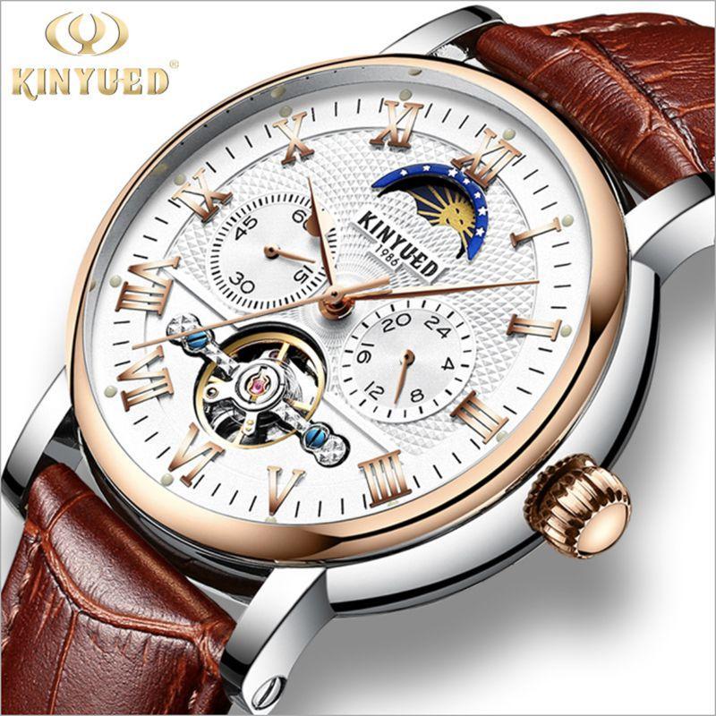 Đồng hồ Kinyued cơ tự động lộ máy dây da bán chạy