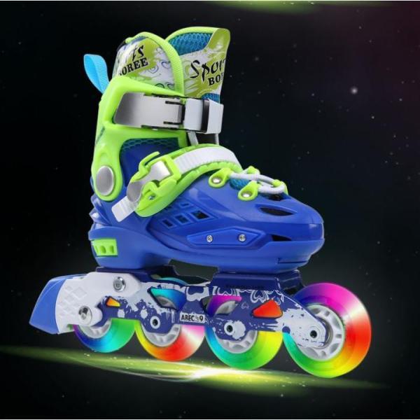 Phân phối Giày trượt patin trẻ em tặng kèm bảo hộ chân tay, Giày patin Sport Boree cao cấp 8 bánh cao su phát sáng trượt mượt êm và có độ trớn cao, khung càng chắc chắn giúp trượt kỹ thuật khó, có màu cho bé trai và bé gái [TOMTIN SPORT]