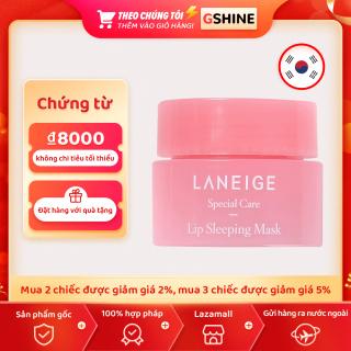Bản gốc Hàn Quốc Laneige Mặt nạ môi dạng thạch 3g đóng hộp mặt nạ môi dùng một lần làm mờ nếp nhăn môi ban đêm dưỡng ẩm giữ ẩm dưỡng ẩm 3g chaiLaneige mặt nạ ngủ cho môi dưỡng ẩm cho đôi môi mềm mại căng bóng - 3g - intl Laneige Lip Mask 3g thumbnail