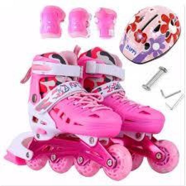 Phân phối Giày trượt Patin trẻ em người lớn tặng mũ và đồ bảo hộ (SIZE S 28-32, M 33-37, L 38-42) ,Giày Trượt batin Trẻ Em Cao Cấp. HOT SALE tới 50%