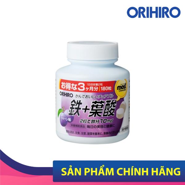 Viên Nhai Orihiro Most Chewable Iron 180 Viên Giúp Bổ Sung Sắt Và Acid Folic Cho Cơ Thể cao cấp