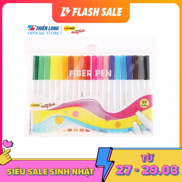 Bút lông màu Fiber Pen Colokit Thiên Long - Chuyên viết nét thanh, nét đậm, viết chữ Calligraphy, sổ tay ghi chú Bullet Journal