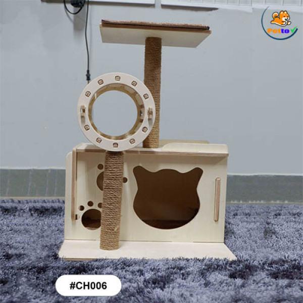 [HCM]Nhà cây cho mèo 1 tầng CH006