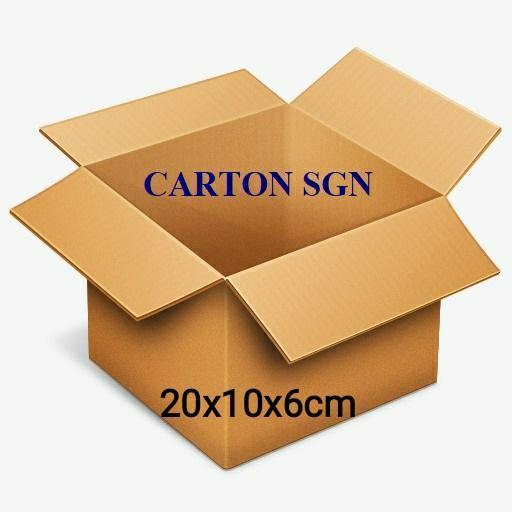 Combo 100 Hộp carton 20x10x6cm Thùng Carton giá ưu đãi