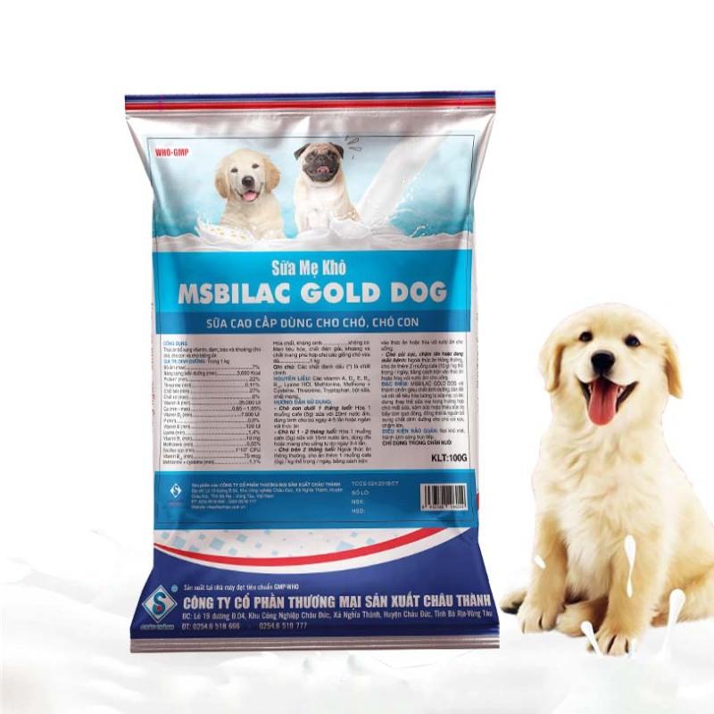 Sữa cho chó cao cấp Msbilac Gold Dog 100g
