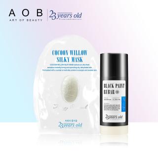 Combo Làm sạch và dưỡng da chuẩn Hàn Quốc Cocoon Willow Silky Mask 43g + Black Paint Rubar Cleansing Stick 45g thumbnail