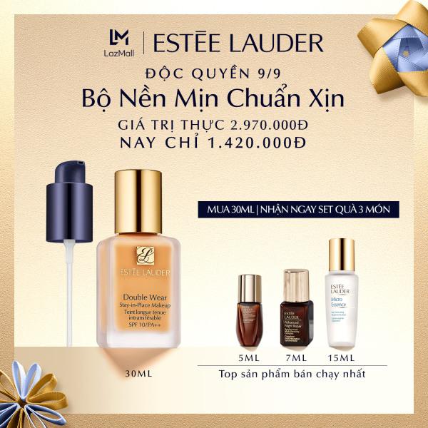 [ĐỘC QUYỀN 9.9-11.9] Estee Lauder – Bộ 3 Món Dưỡng Da và Kem Nền Double Wear 30ml (Giá trị thực 2,970,000) • Nền Mịn Chuẩn Xịn cao cấp