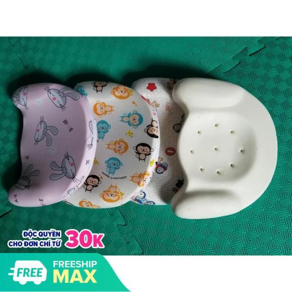 Gối cao su non chống méo đầu cho có lỗ thông hơi chống ngạt bé 0 đến 2 tuổi