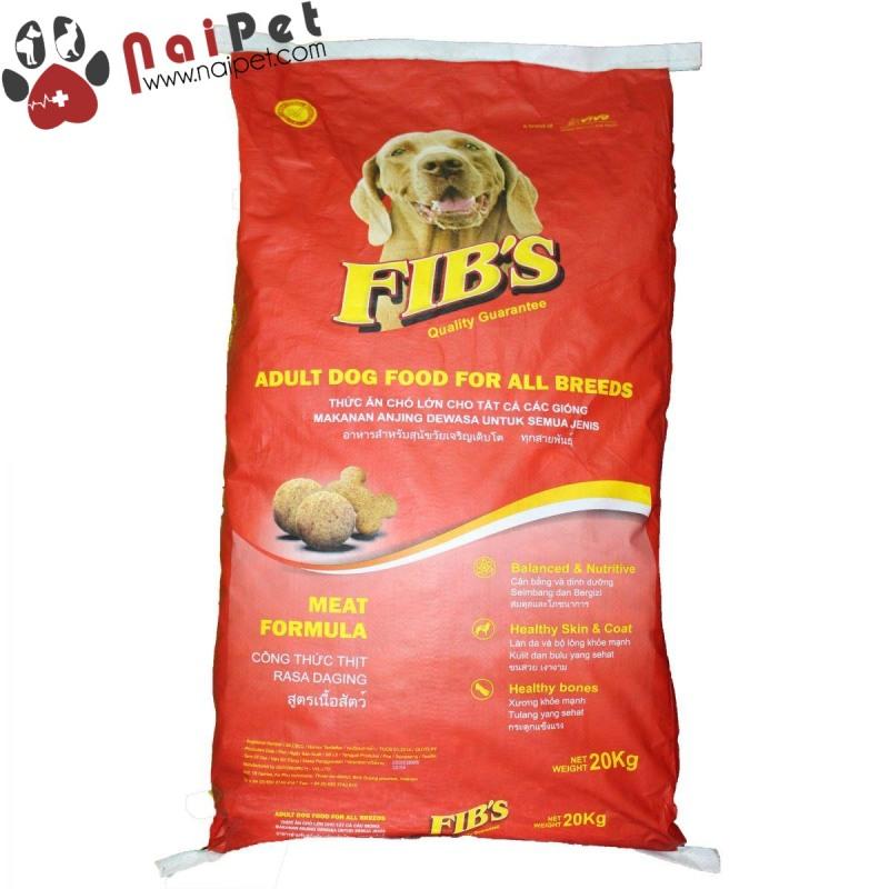 Thức Ăn Hạt Khô Cho Chó Lớn Fibs Bao Xá 20kg