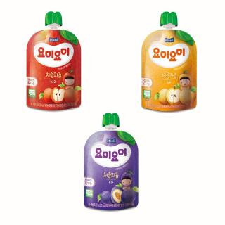 Combo 4 bịch nước ép trái cây hữu cơ nhập khẩu Hàn Quốc cho bé từ 4M (1Táo 2Lê 1Mận Khô) thumbnail