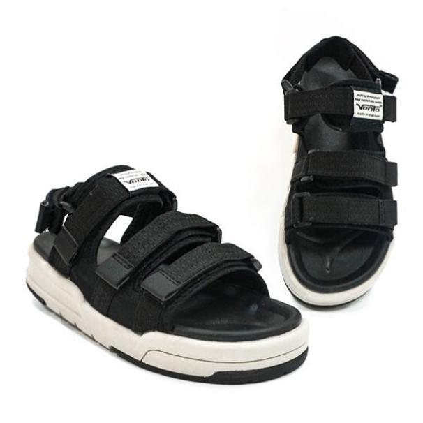 Giày Sandal 2 Quai Ngang Vento 1001 Đen Ghi giá rẻ
