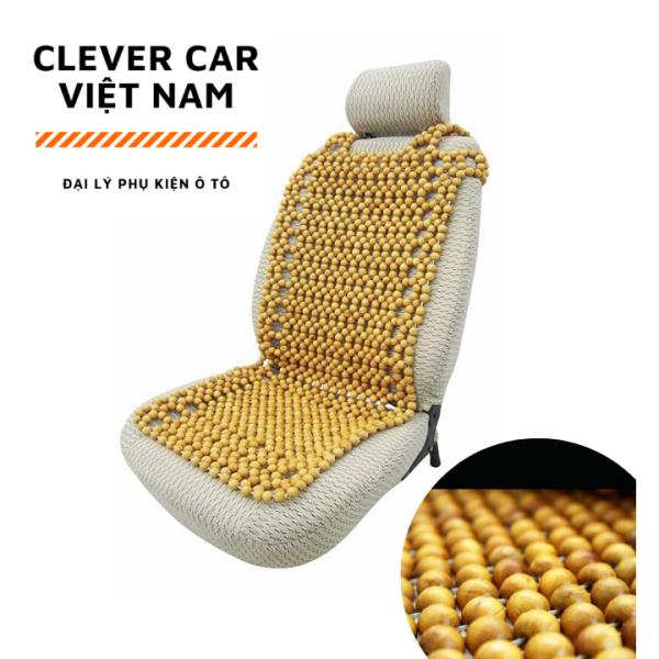 Lót ghế ô tô hạt gỗ bền đẹp - hạt lót ghế gỗ