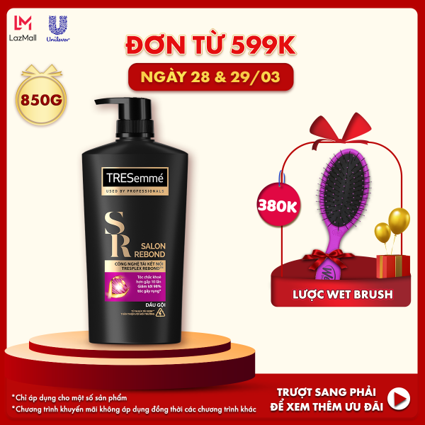 Dầu Gội Tresemmé Salon Rebond Công Nghệ Tái Kết Nối Ngăn Ngừa Gãy Rụng 850gr